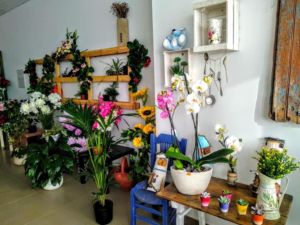 Flores diversas en floristeria