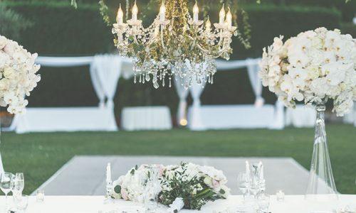 Arreglos de flores banquete convite